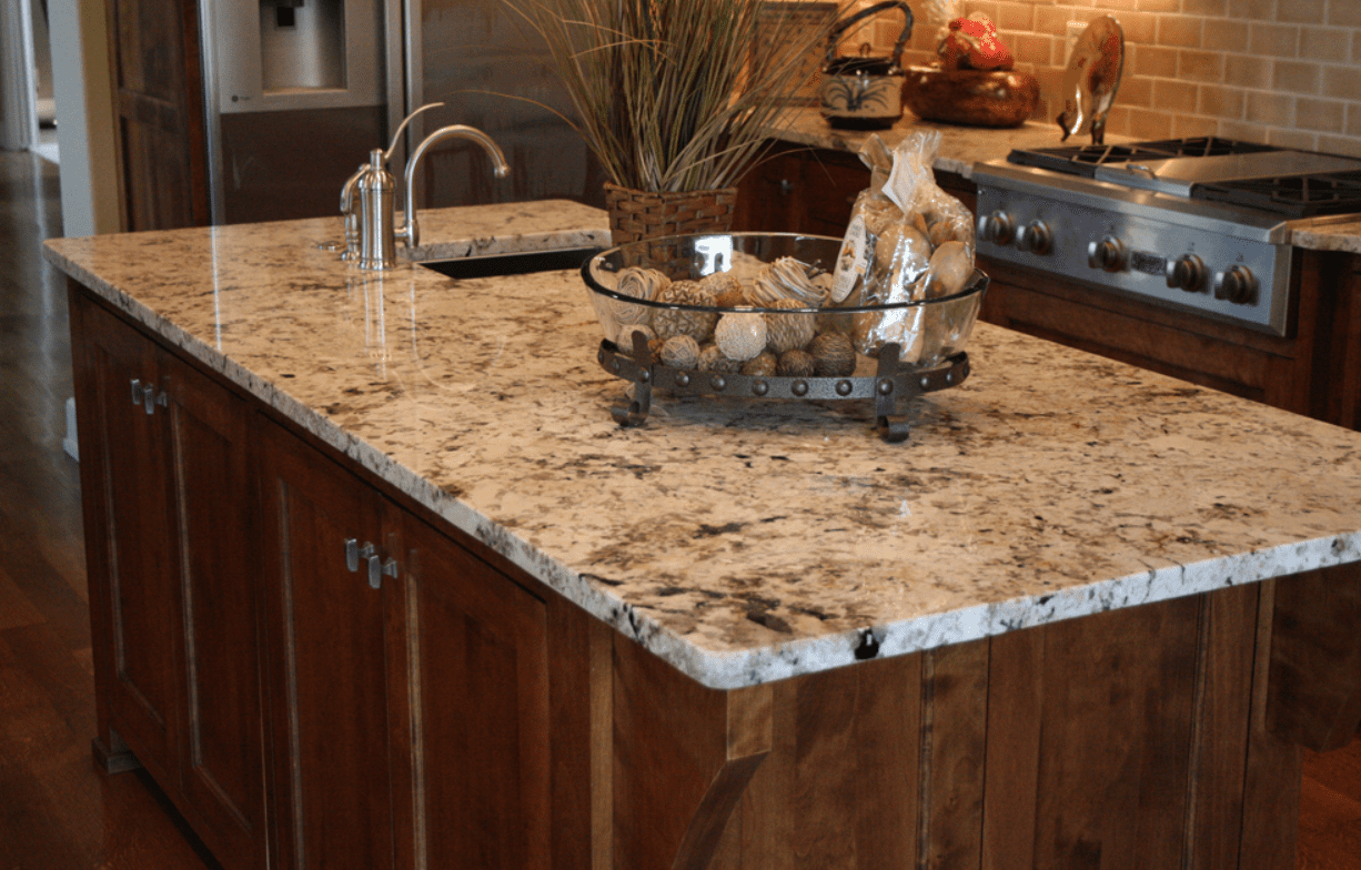Granite kitchen countertop
