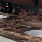 marble counter slice