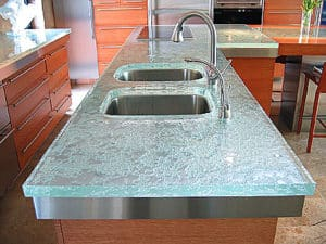 Charmant Recycled Glass Countertops