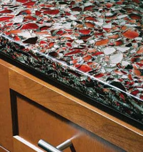 Recycled Gl Countertop Installation