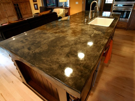 concrete countertop stamping and staining options - Colored Concrete Countertops