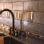 Tile and Metal Backsplash