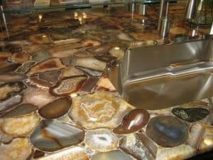 Exotic Stone Gem And Precious Metal Countertops