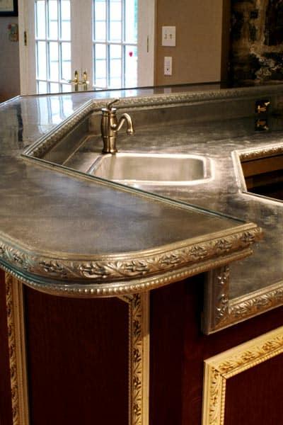 Metal bathroom sink - In Metal Surface Countertops Top Trends In Metal Surface Countertops