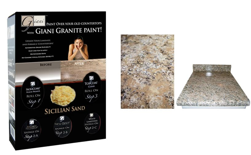 Granite Countertop Paint Kit Giveaway CounterTop Guides - Kitchen countertop paint kits