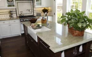 white granite countertop - Granite Kitchen Countertops