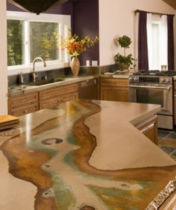 Pros And Cons Of Concrete Countertops Stained Countertop