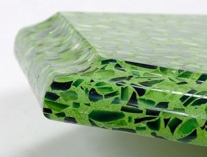 Green Recycled Glass Countertop