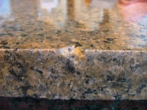 Chipped Granite Photo Courtesy of naturalstoneoutlet.blogspot.com