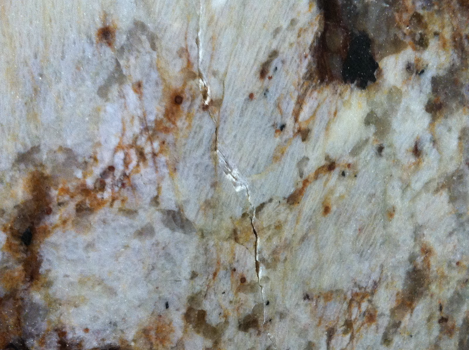 Crack Going Against Grain Of Granite