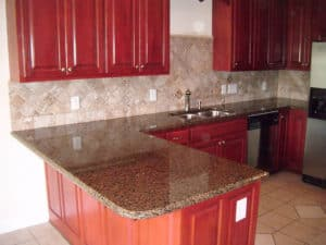 A beautiful backsplash accenting a great countertop!